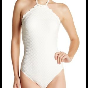 kate spade new york high neck maillot bathing suit